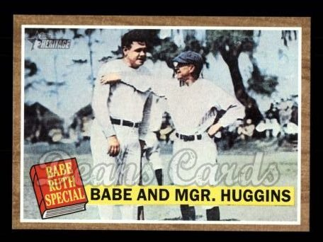 2011 Topps Heritage #137 A Babe And Mgr. Huggins  -  Babe Ruth